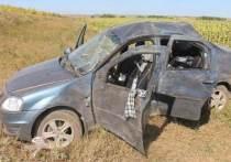 В Матвеевском районе  на трассе «Старокутлумбетьево – Емельяновка» перевернулся автомобиль «Renault Logan»