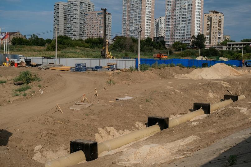 В Волгограде защитит от оползней дома берегоукрепление Волги, фото-4