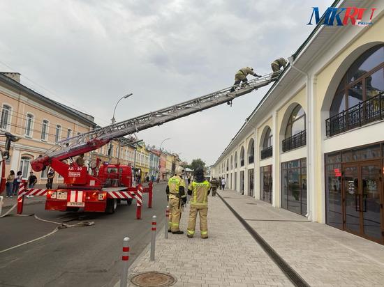 В Рязани произошло задымление в недавно открывшихся Торговых рядах