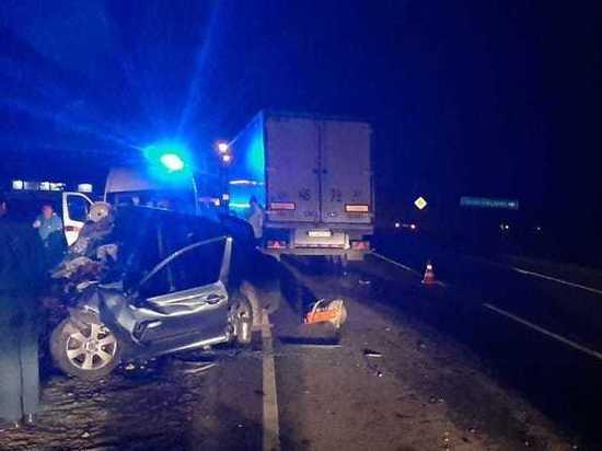 Под Курском в ДТП с фурой погиб водитель легкового автомобиля