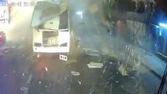 Появилось видео  момента взрыва автобуса в Воронеже