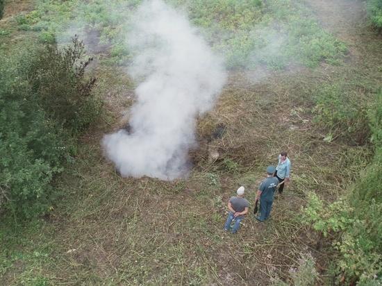 Во время авиаразведки спасатели обнаружили очередного нарушителя особого противопожарного режима