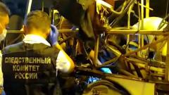Опубликовано видео осмотра следователями взорвавшегося автобуса в Воронеже
