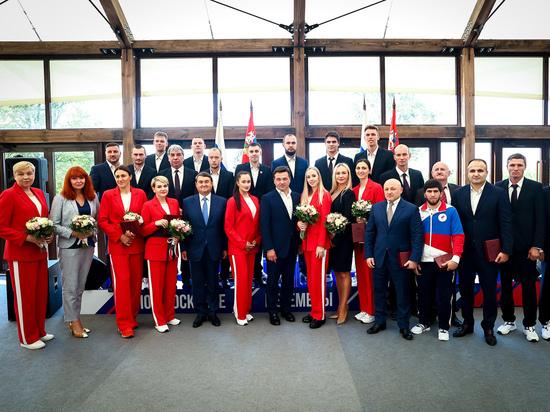 Губернатор Андрей Воробьев встретился с олимпийцами, представлявшими Подмосковье в Токио