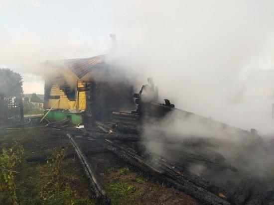 В Кировской области в огне погибли мужчина и женщина
