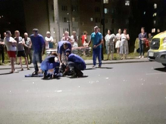 В Курске в Железнодорожном округе в ходе ДТП серьезно пострадал пешеход