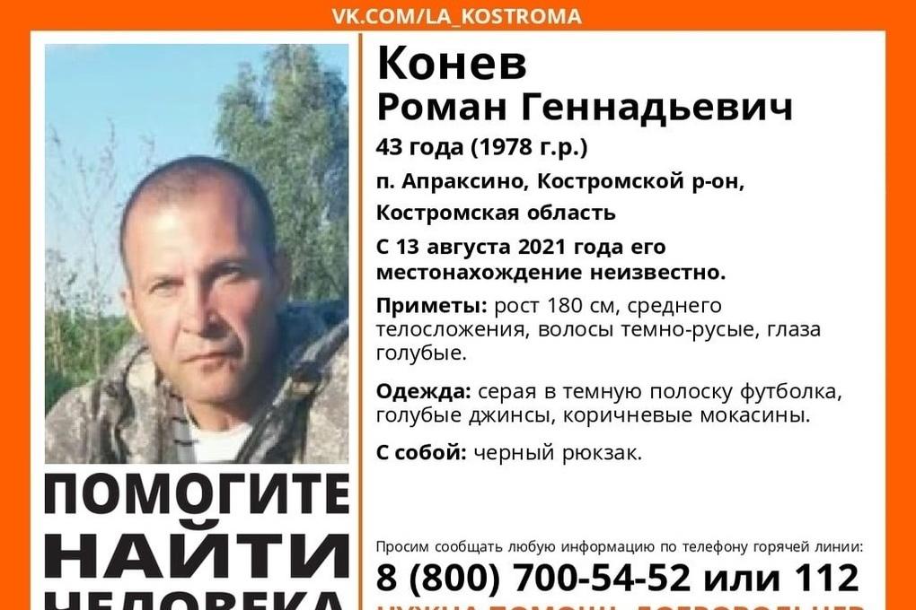 Костромские волонтеры  ищут пропавшего жителя поселка Апраксино