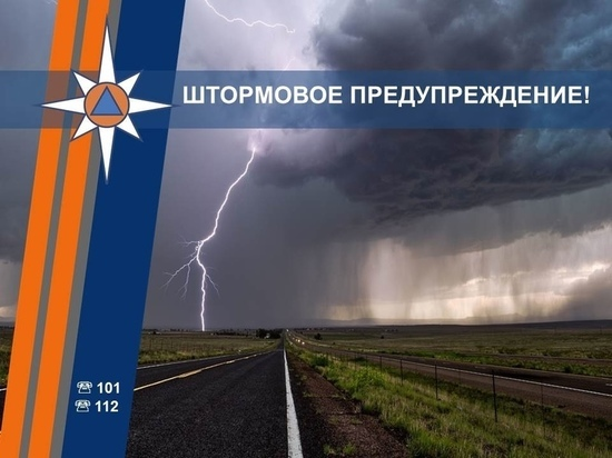 На западе Курской области объявили штормовое предупреждение