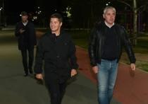 Глава ЯНАО ночью побывал на Карамовском посту и оценил дорожные работы в Ноябрьске