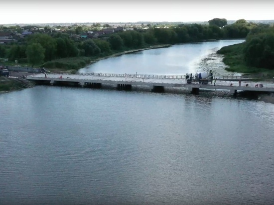 В Курской области завершают строительство низководного моста через Сейм