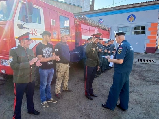 Казаки из Красноярского края создали пожарную дружину