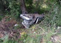 Водитель «Рено» не справился с управлением и перевернулся в Великолукском районе