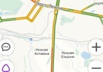 В Туле на Калужском шоссе собралась пробка из-за ДТП