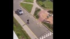 Опубликовано видео погони минской милиции за самокатчиком