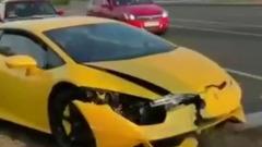 Юный водитель разбил в Сочи арендованный Lamborghini: видео аварии