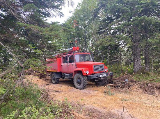 Облака мешают тушить лесные пожары на Сахалине
