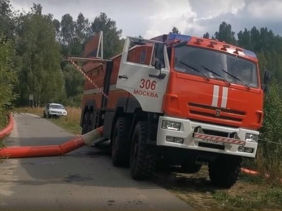 Площадь пожара на юге Нижегородской области уменьшилась вдвое