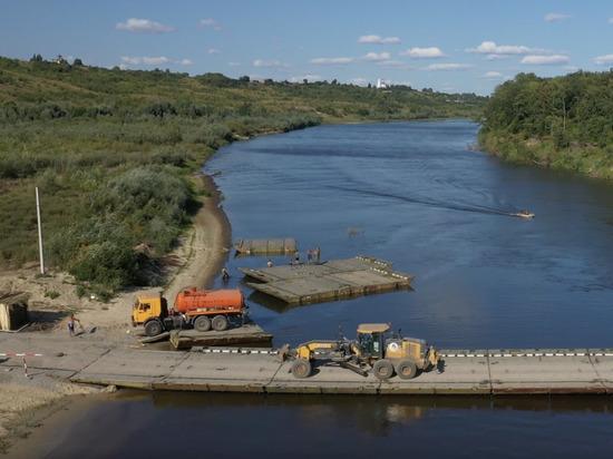 В Нижегородской области на трассе М-12 наводятся понтонные переправы