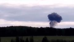 Бомбардировщик Су-24 потерпел крушение под Пермью: кадры с места