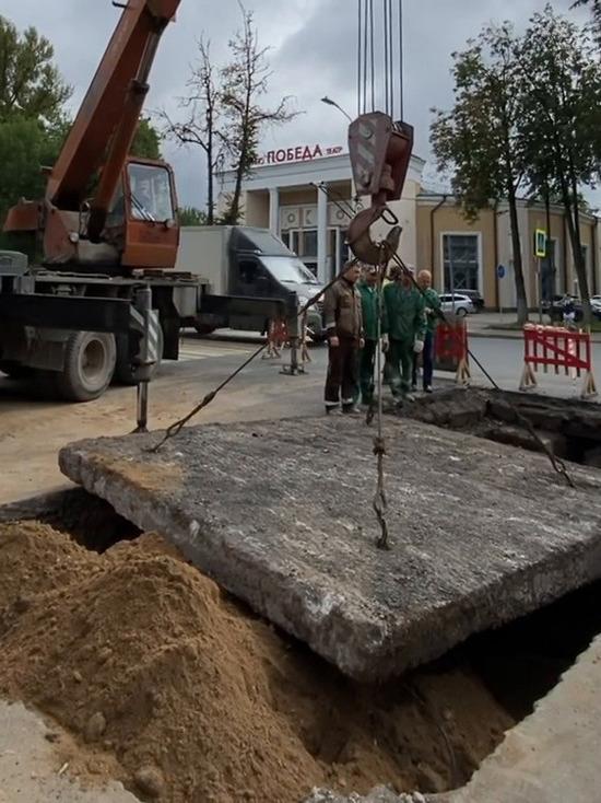 Псковские теплосети завершили ремонтные работы на Октябрьском проспекте