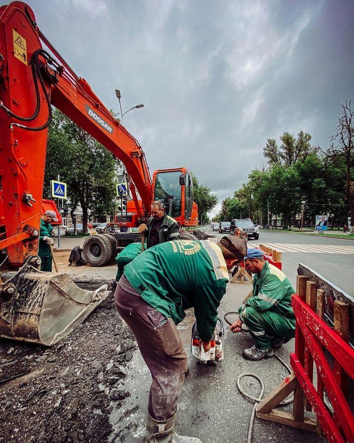 На Октябрьском проспекте завершили ремонтные работы псковские теплосети, фото-2