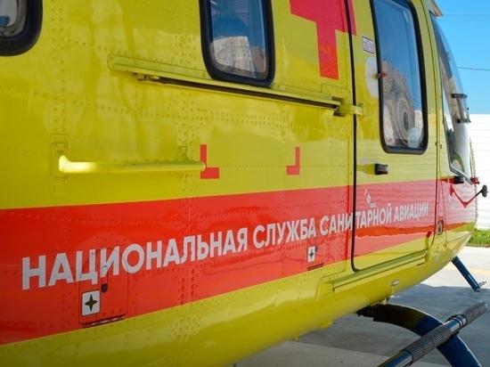 В Курской области 78 вылетов совершил вертолет санавиации