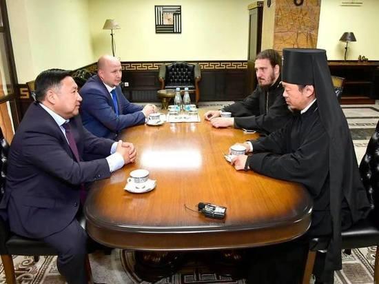 Врио главы Тувы встретился с активом Кызыльской епархии