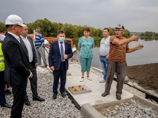 Роман Старовойт проинспектировал строительство моста в Курчатовском районе