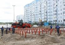 Долгое строительство нового фонтана беспокоит жителей Надыма