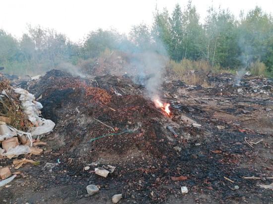 В Кировской области полмесяца горит свалка. Жители жалуются на едкий дым