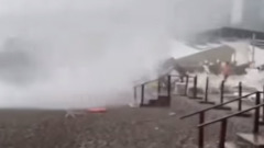 Смерч в Сочи разгромил пляж и напугал отдыхающих: видео