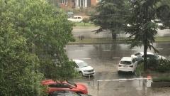 Симферополь накрыло проливным дождём