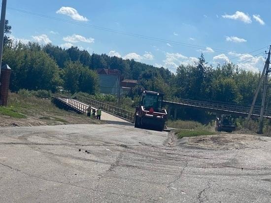 В Курске привели в порядок мост на Боевке