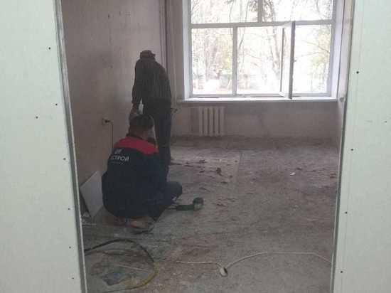 В курском Железногорске приступили к ремонту 1 этажа горбольницы