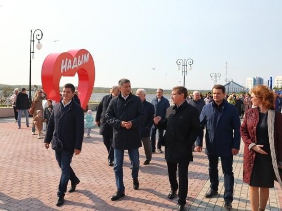 Артюхов, Якушев и Кобылкин поздравили с Днем города жителей Надыма