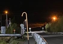 Газовый столб вырос посреди тротуара в Аксарке