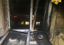 В жилом доме Людиново сгорела квартира