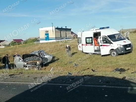 В Тимском районе Курской области в ДТП ранены три человека