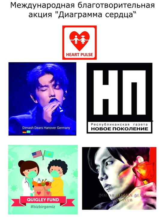 """Фанаты Димаша Кудайбергена организовали международную благотворительную акцию """"Диаграмма сердца"""""""