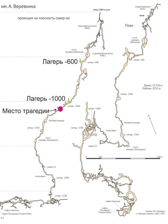 Самая глубокая пещера мира: спелеолог из Крыма участвовал в спасательной операции