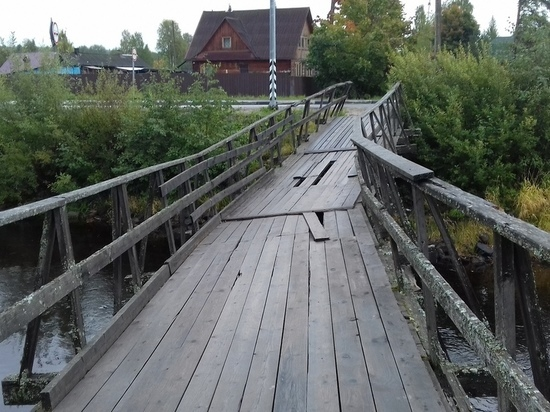 Аварийный мост в Карелии, на который пожаловались жители, собираются снести