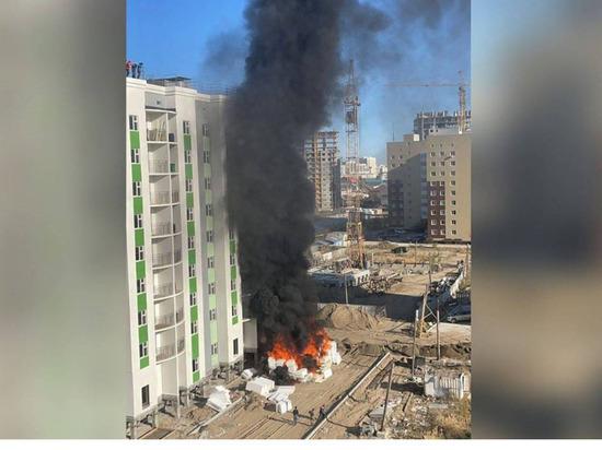 В Якутске произошел пожар на улице Петра Алексеева