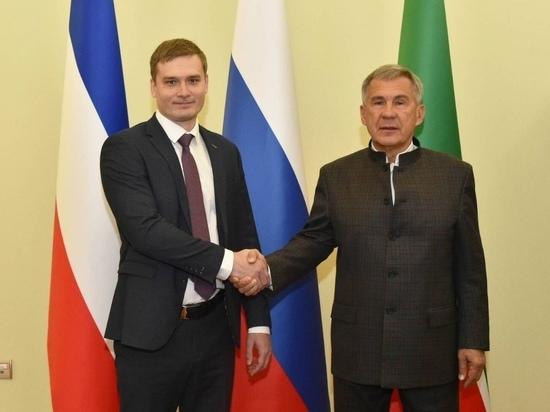 Глава Хакасии закрепил торгово-экономический союз с президентом Татарстана