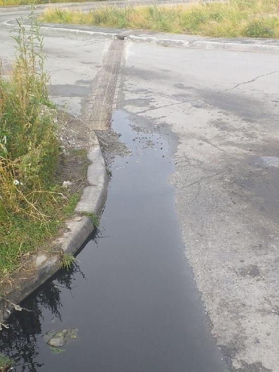 На расползающиеся по улице фекальные потоки жалуются жители Салехарда