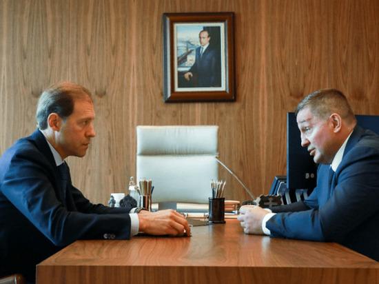 Андрей Бочаров провел рабочую встречу с главой Минпромторга РФ