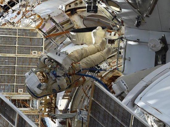 Космонавт Новицкий выбросил «укладку с мусором» в открытый космос
