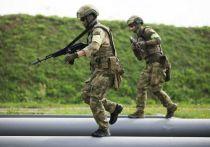 На фотографиях к этому репортажу с тренировки спецназа вы не увидите лиц героев