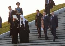 Монумент Александру Невскому в Гдовскому районе освятил патриарх Кирилл
