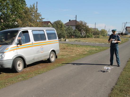 С помощью беспилотника в Курском районе выявили нарушителя