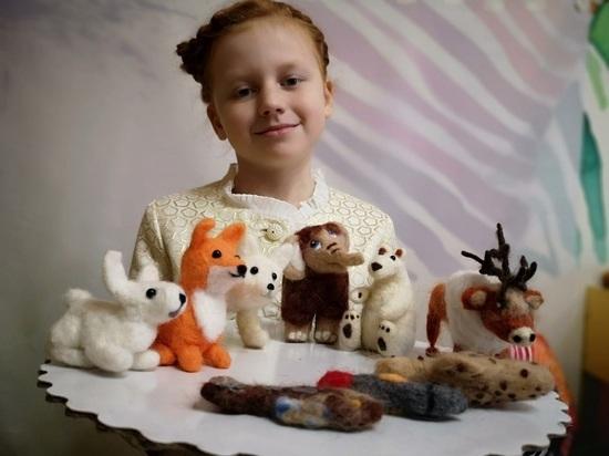 «Приключения мамонтенка»: школьница создала из игрушек собственного изготовления шерстяной мультфильм о животных Ямала